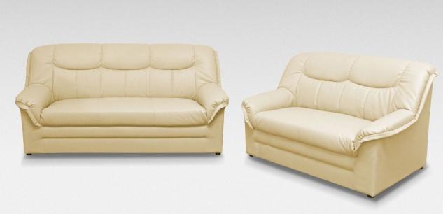 2-teilige Polstergarnitur 2-Sitzer Sofa 3-Sitzer Couch Federkern 3 Farben Kunstleder DO-Boston-3 - Vorschau 2