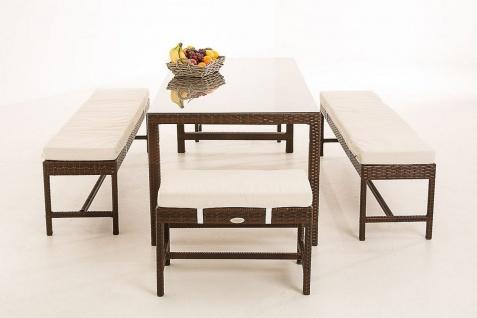 5-tlg Garten Dining Lounge inkl. Kissen Sitzgruppe Polyrattan 4 Farben CL-Haiti - Vorschau 2