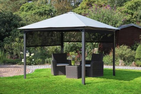 Gartenpavillon inkl. Solar Beleuchtung 4x Seitenrollos 300 x 300 x 255 cm LC-Lights