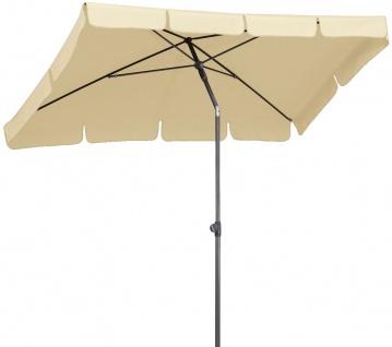 Sonnenschirm rechteckig 265 x 150 cm Volant 7 sommerliche Farben Knickgelenk BF-LasPalmas-3