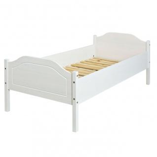Bettgestell Bett Doppelbett Einzelbett 4 Größen 2 Farben Massivholz weiß natur L-Kalli