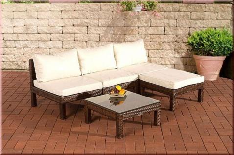 5-tlg Lounge Sitzgruppe Gartenmöbel Sofa Tisch Auflagen Rattan 4 Farben CL-Fidschi