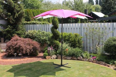 Sonnenschirm Blüten-Design 5 Farben Kurbel LC-Hibiscus