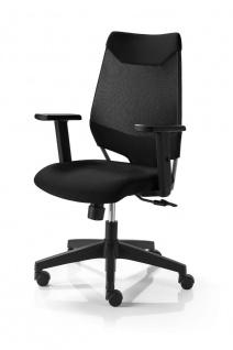 Bürostuhl 4 Farbkombinationen Drehstuhl höhenverstellbare Armlehnen Synchronmechanik M-Miko - Vorschau 4