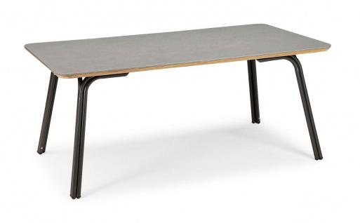 Gartentisch 2 Größen rund 120 cm eckig 180 x 100 cm Diningtisch Beton-Tischplatte BF-Sola