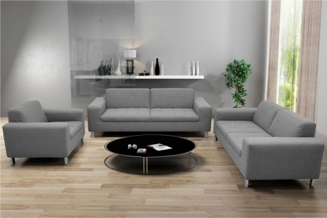 3-tlg. Couchgarnitur 2-Sitzer 3-Sitzer Sofa Sessel Polstergarnitur 4 Farben 2 Stoffe DO-Salandra - Vorschau 1