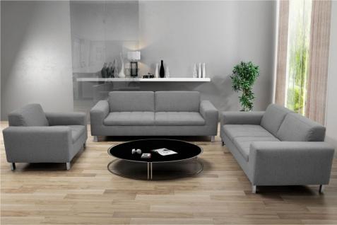 3-tlg. Couchgarnitur 2-Sitzer 3-Sitzer Sofa Sessel Polstergarnitur 4 Farben 2 Stoffe DO-Salandra