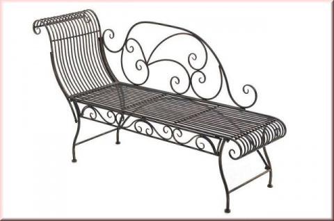 Recamiere Longchair Retro Gartenbank Liege Eisen 6 antik Farben CL-Pyra