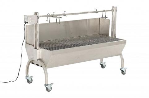Grill Spanferkelgrill Holzkohlegrill bis 50 kg Edelstahl Rollen Motor CL-Meat