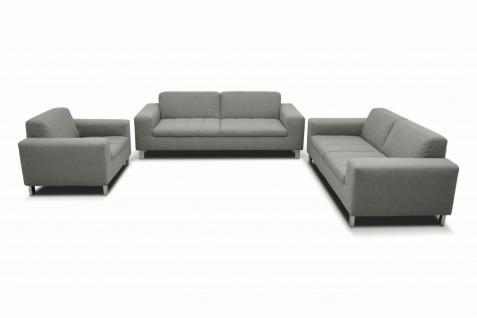 3-tlg. Couchgarnitur 2-Sitzer 3-Sitzer Sofa Sessel Polstergarnitur 4 Farben 2 Stoffe DO-Salandra - Vorschau 3