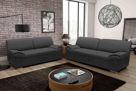 2 tlg. Couchganitur 2-Sitzer Sofa 3er Couch Polstergarnitur 3 Farben DO-Aera-1