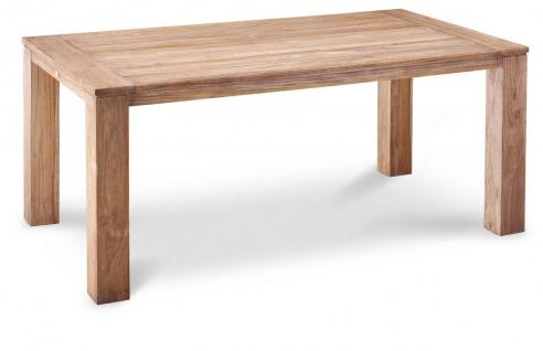 Holztisch Dining Tisch 5 Größen Gartentisch quadratisch recheckig Teakholz massiv BF-Milao