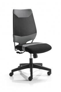 Bürostuhl 4 Farbkombinationen Drehstuhl höhenverstellbare Armlehnen Synchronmechanik M-Miko - Vorschau 3