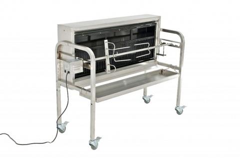 Grill Spanferkelgrill Holzkohlegrill bis 70 kg Edelstahl Rollen Motor CL-Bacon - Vorschau 2