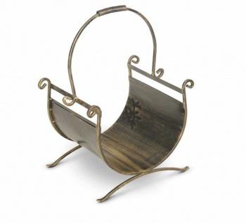 Holzkorb Metall 2 Farben Handarbeit Kaminholz-Korb Kaminholzständer Griff N-HK-K13