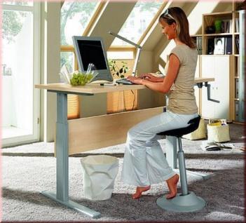 Schreibtisch Up & Down höhenverstellbar Stehpult 120-160 cm 6 Farben S-W-Turbo