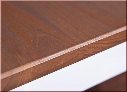 Couchtisch rechteckig Landhausstil Massivholz lackiert 2-farbig sepia-braun weiß L-Wendy-2 - Vorschau 5