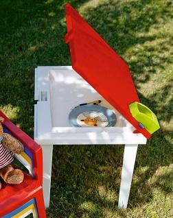 Gartentisch Kindertisch Stiftehalter Tischplatte aufklappbar Staufach BF-Alibaba-T