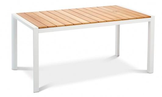 Exklusiver Tisch 2 Farben 2 Größen Diningtisch Gartentisch Teakholz Alugestell BF-Patmos