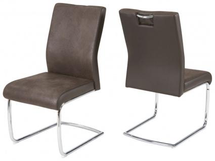 2er Set Freischwinger Stuhl 2 Farben braun schwarz 150 kg Schwerlaststuhl Besucherstuhl R-Janis