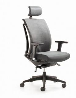 Bürostuhl 4 Farben mit/ohne Kopfstütze WAS Rücken Funkt.-Armlehnen Synchronmechanik Drehstuhl M-Aira