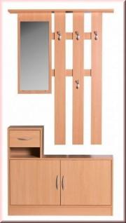 Garderobe Set 2 Farben Wandgarderobe Spiegel Schuhschrank Garderobenhaken W-GJ1155