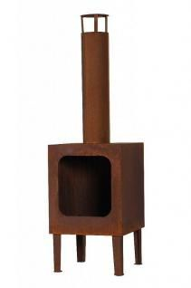Gartenkamin inkl. Rost 2 Farben Kamin Outdoor Stahl N-GK188