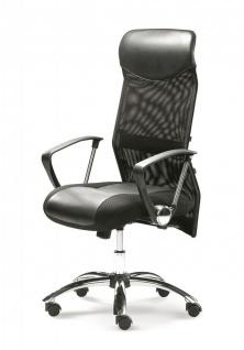 Bürostuhl schwarz Chefsessel Relaxmechanik Gewichtseinstellung M-City