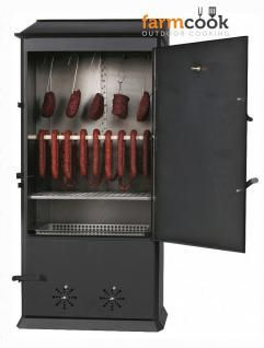 XL Räucherofen 2 Türen Thermometer Haken Extras große Räucherkammer 160 cm N-R50