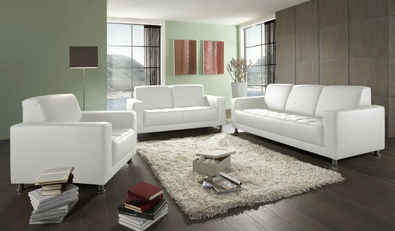 3-teilige Couchgarnitur 2-Sitzer 3-Sitzer Sofa Sessel ...