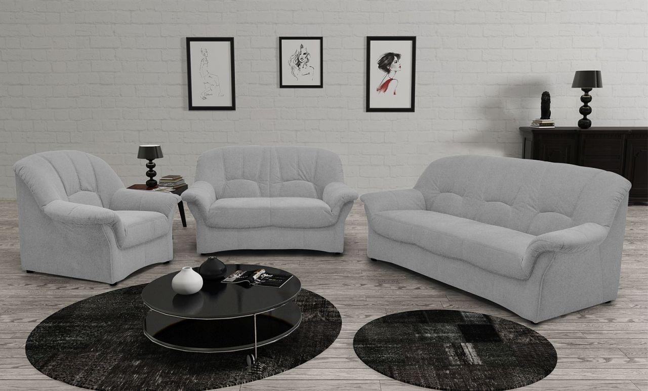 Couchgarnitur 3 Teilig Polstergarnitur Federkern Sofa 2er 3er Sessel