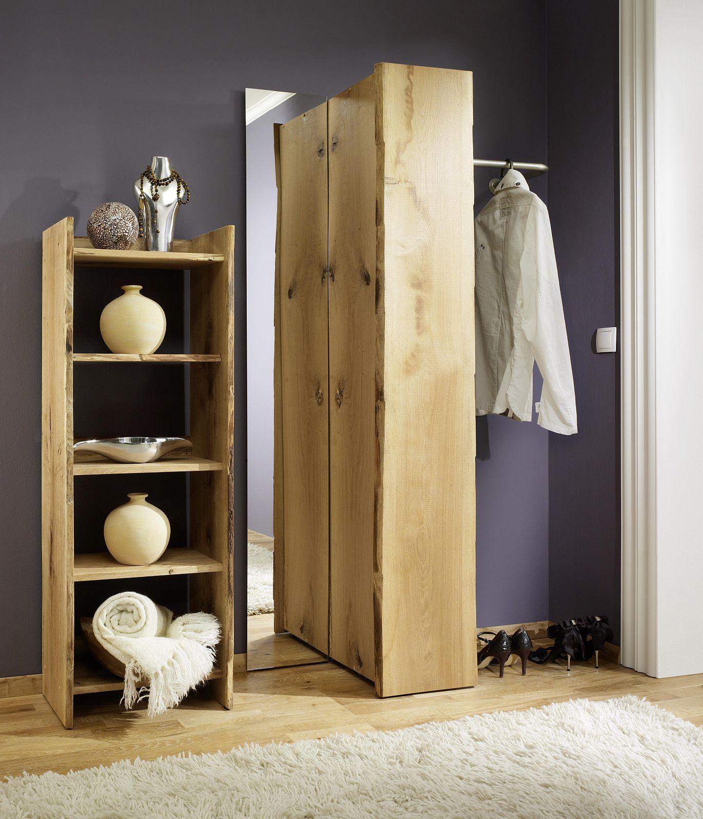 garderobe set 4 teilig landhausstil eiche massiv s gerauh. Black Bedroom Furniture Sets. Home Design Ideas