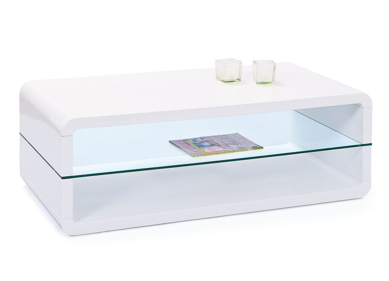 couchtisch rechteckig 2 ablagef cher glas tischplatte. Black Bedroom Furniture Sets. Home Design Ideas