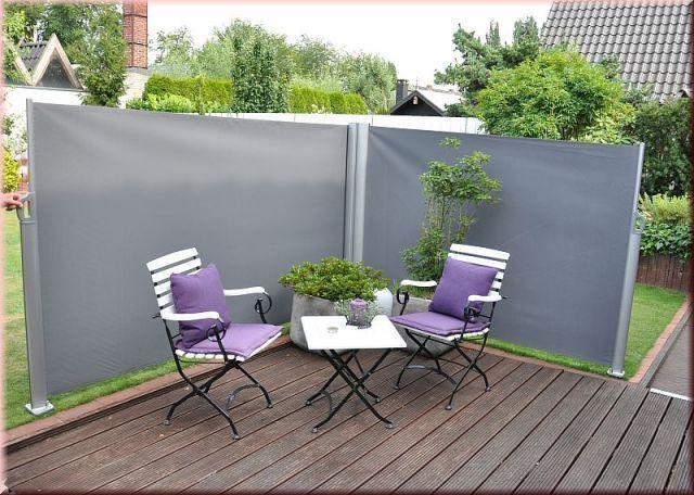 Doppel Seitenmarkise 2 Farben Xxl Sichtschutz Windschutz 600x160 Cm