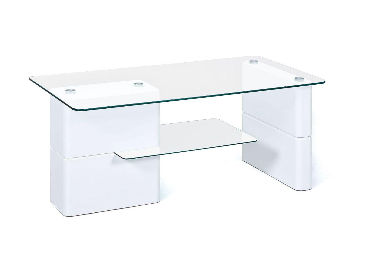 moderner couchtisch glasplatte ablage glas hochglanz wei 110 x 55 cm l asti kaufen bei eh m bel. Black Bedroom Furniture Sets. Home Design Ideas