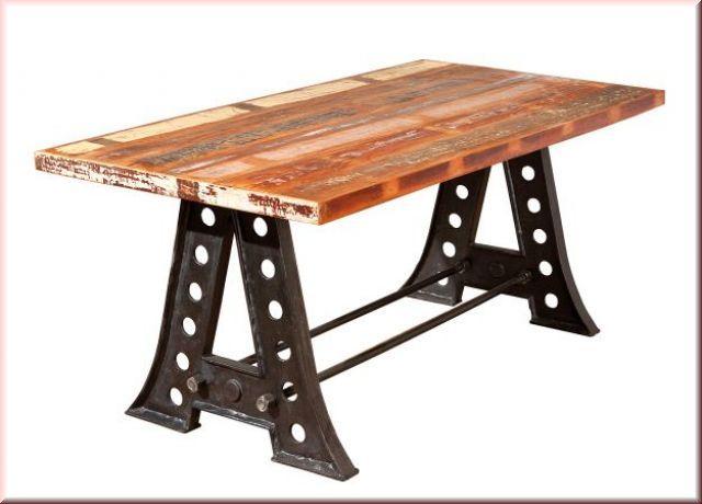 Esstisch Tisch Shabby chic rechteckig Mangoholz massiv recycled ...