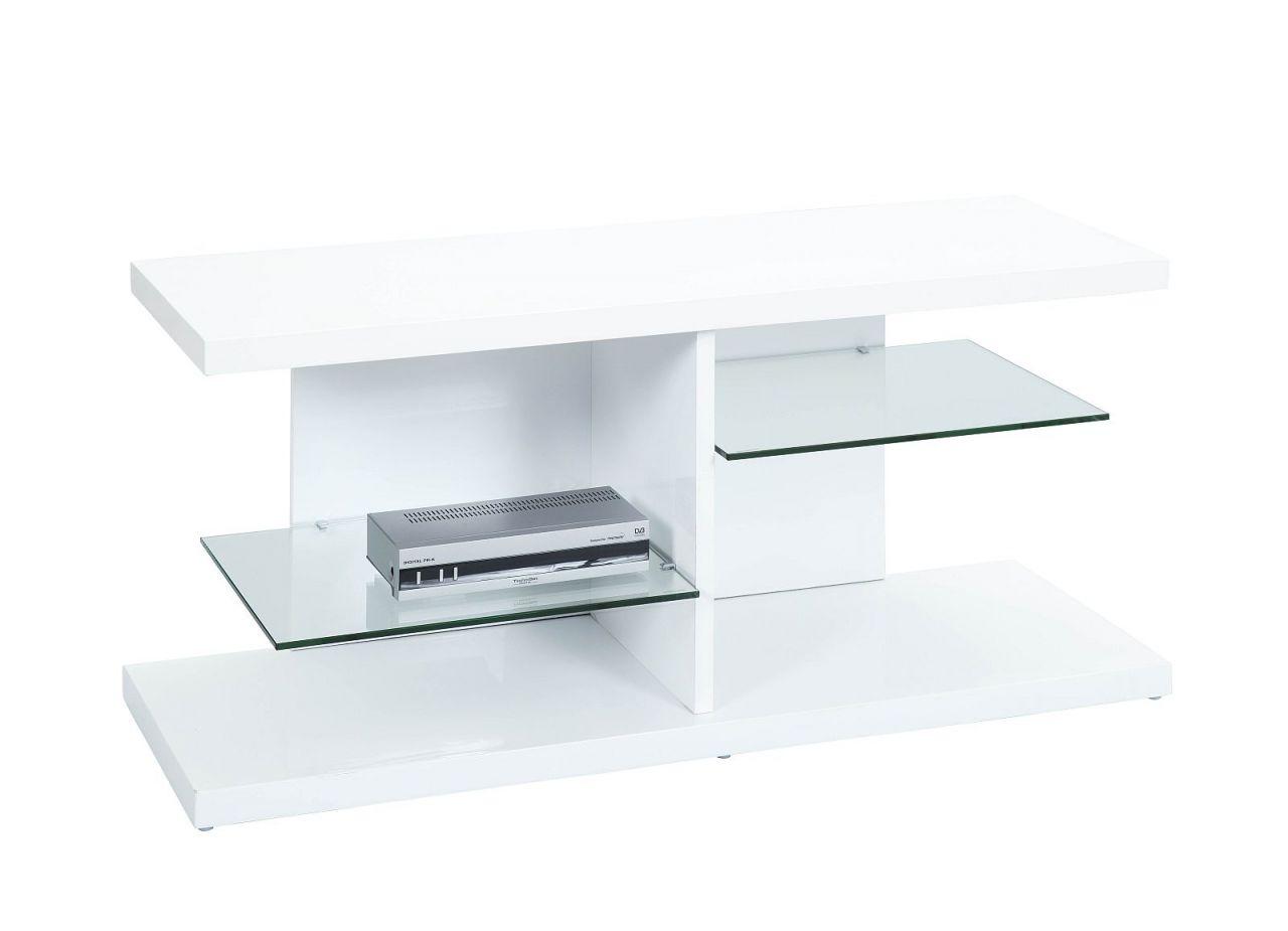 tv rack hochglanz wei glas tv board fernsehschrank l. Black Bedroom Furniture Sets. Home Design Ideas