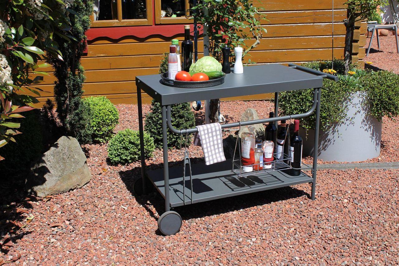 Outdoor Küche Rollbar : Grill servierwagen outdoor serviertisch beistelltisch rollen lc