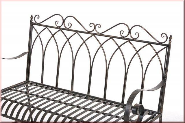 gartenbank nostalgie bank retro metall eisen 6 antik farben cl dorah kaufen bei eh m bel. Black Bedroom Furniture Sets. Home Design Ideas