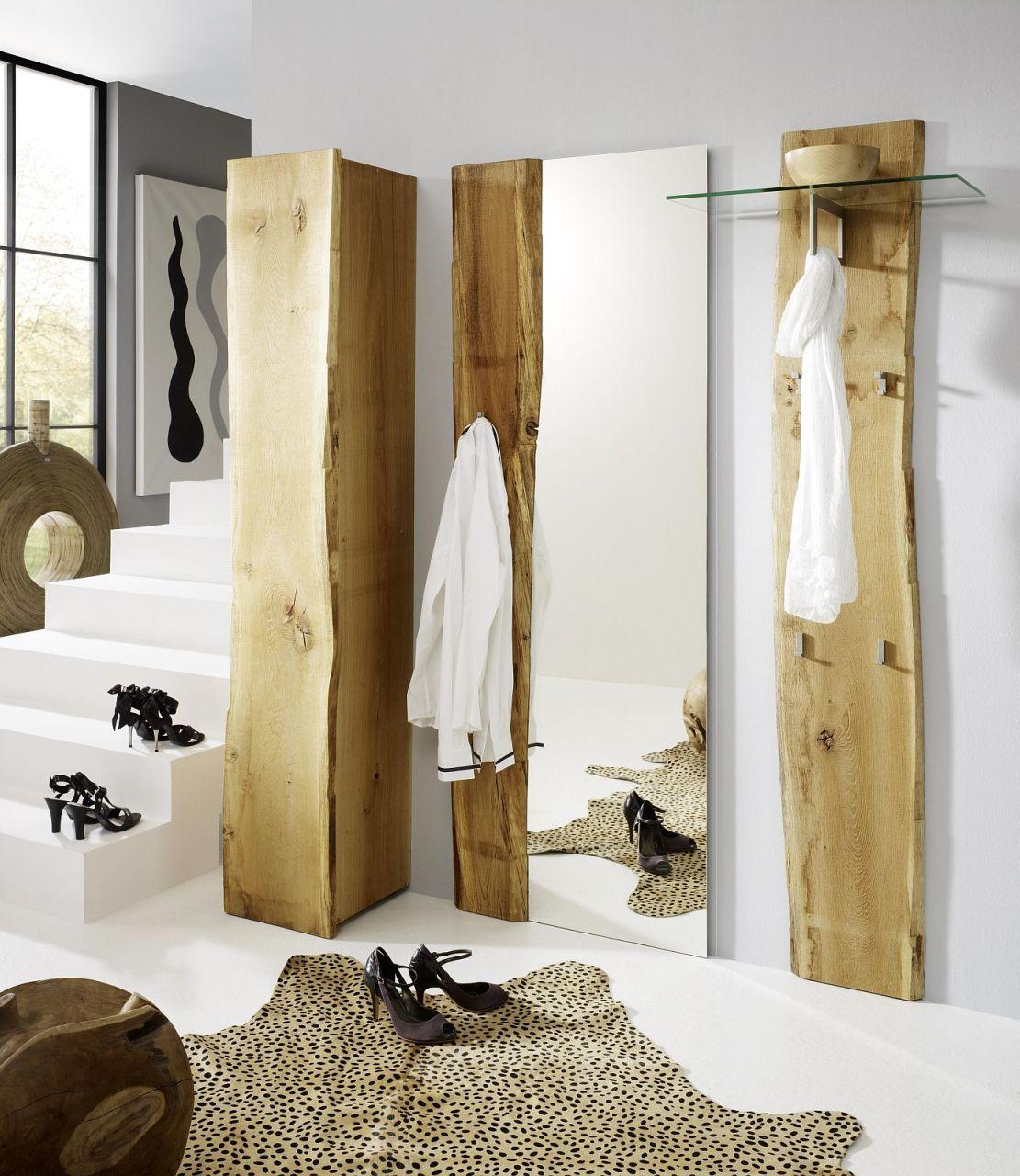 exklusives garderobenset 3-teilig garderobe landhausstil eiche