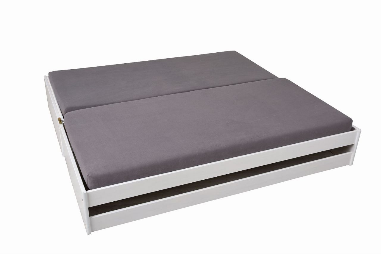 Klappbett 1 Bett 3 Schlafplatze Inkl Lattenroste Massivholz 2 Farben
