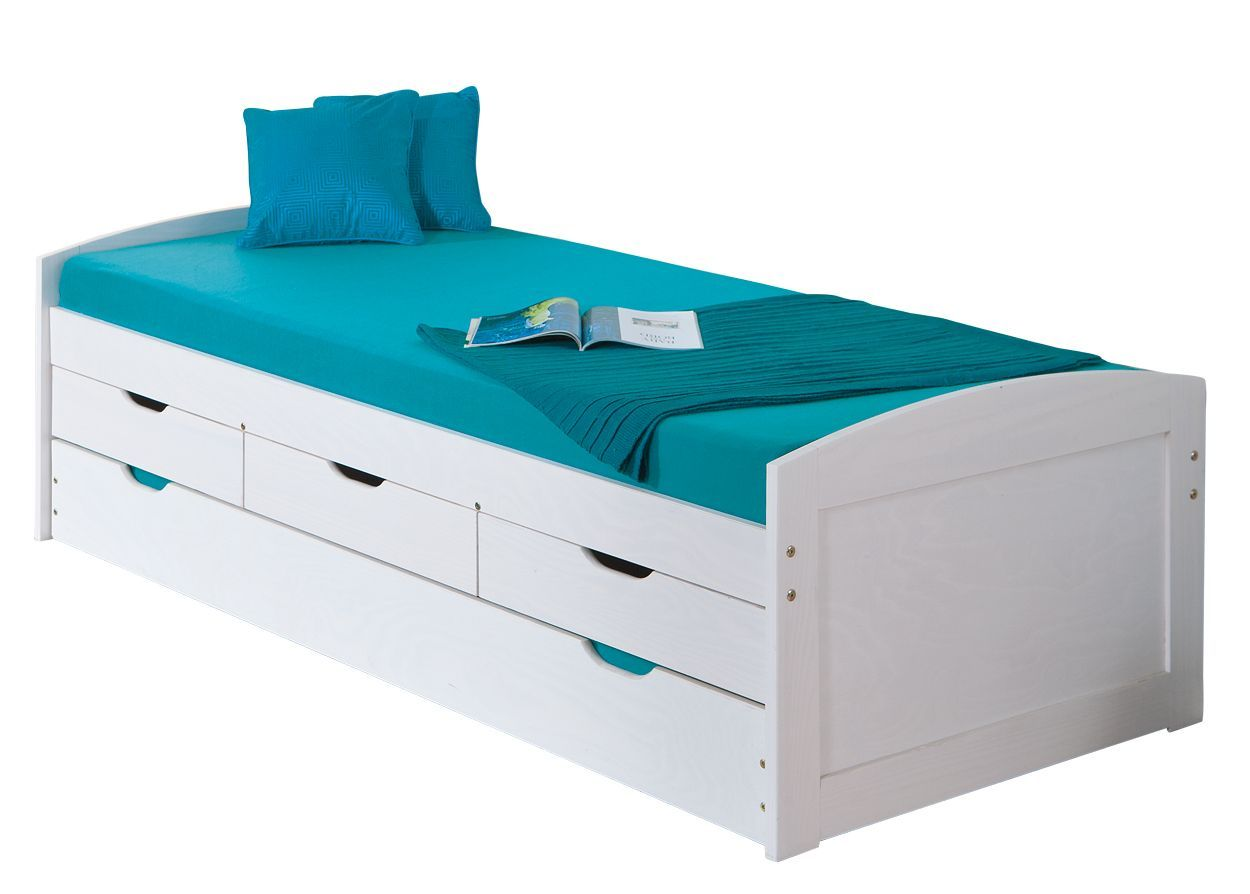 bett kinderbett ausziehbar 2 schlafm glichkeit jugendbett. Black Bedroom Furniture Sets. Home Design Ideas
