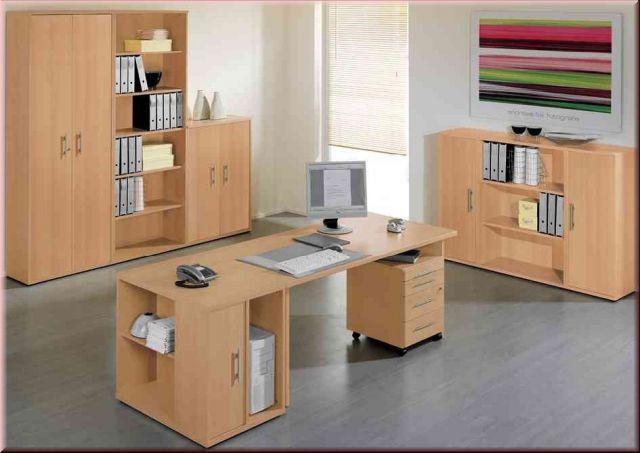 Büromöbel 9-tlg Büroeinrichtung komplett Büro Wellemöbel 4 Farben ...
