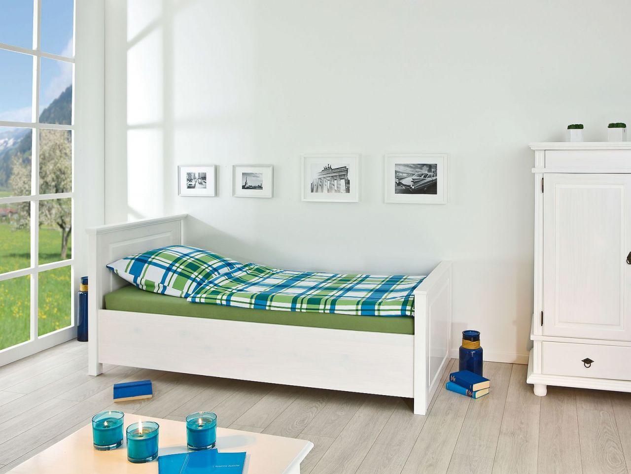 bett doppelbett einzelbett 4 gr en landhausstil massivholz wei holzmaserung l dank 5 kaufen. Black Bedroom Furniture Sets. Home Design Ideas