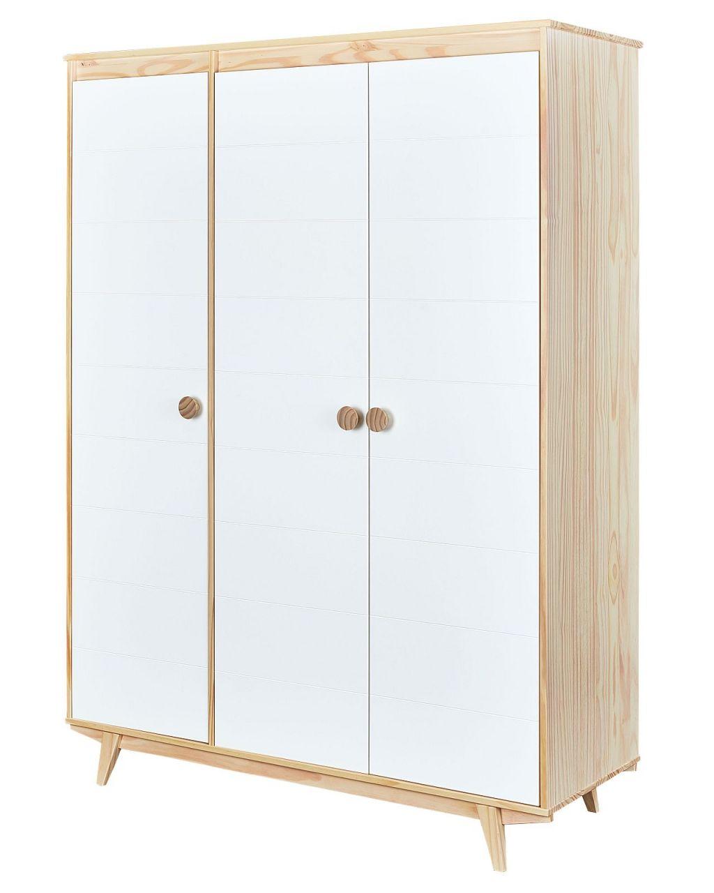 kleiderschrank 3 t rig 150 cm massivholz milkyskin schrank. Black Bedroom Furniture Sets. Home Design Ideas