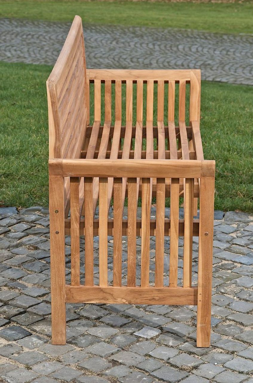 gartenbank teakholz bank massiv holz l nge w hlbar 120 150 180 200 220 cm cl amy kaufen bei eh. Black Bedroom Furniture Sets. Home Design Ideas