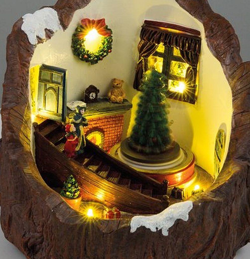 LED Weihnachtszimmer beleuchtet drehender Tannenbaum ...