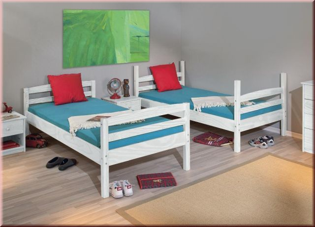 Etagenbett Umbaubar In 2 Einzelbetten : Etagenbett teilbar 2x einzelbett 2 farben massivholz inkl