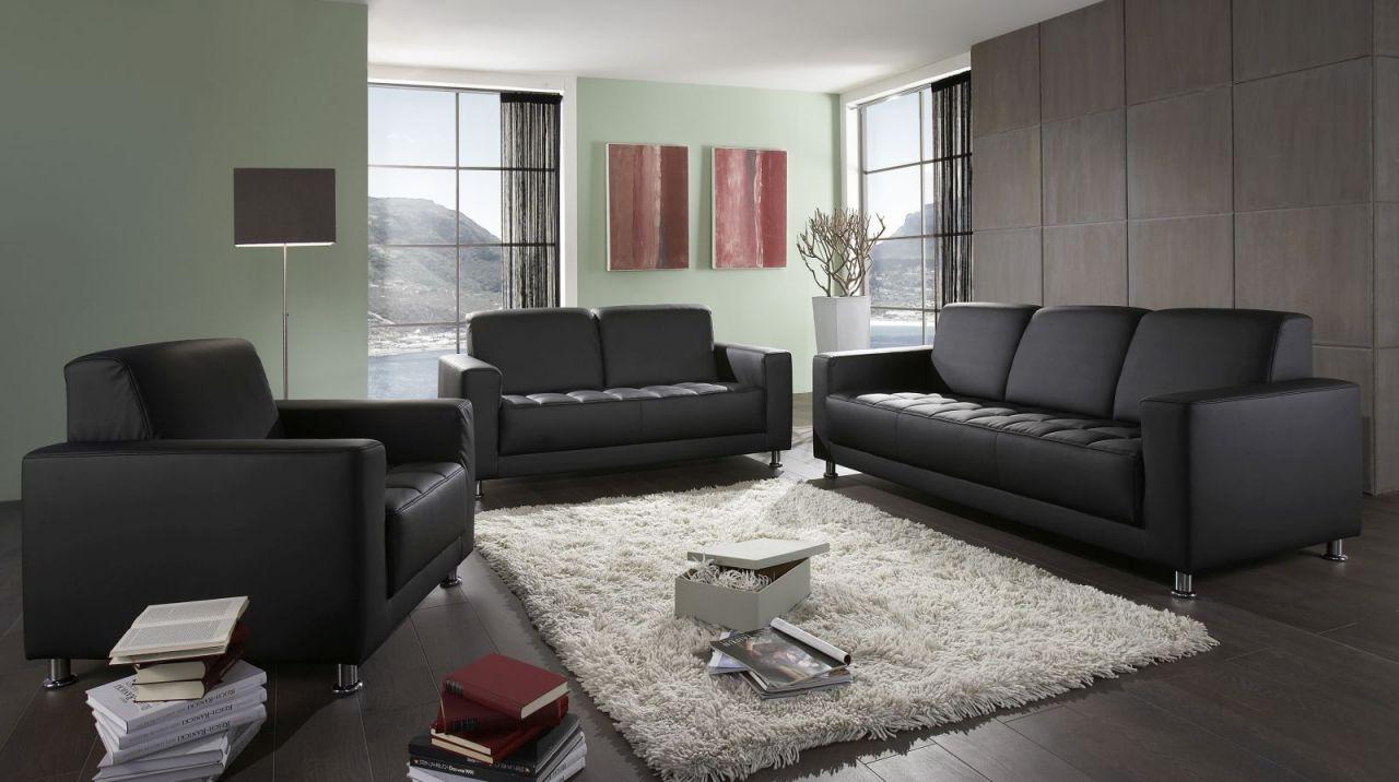 3 Teilige Couchgarnitur 2 Sitzer 3 Sitzer Sofa Sessel