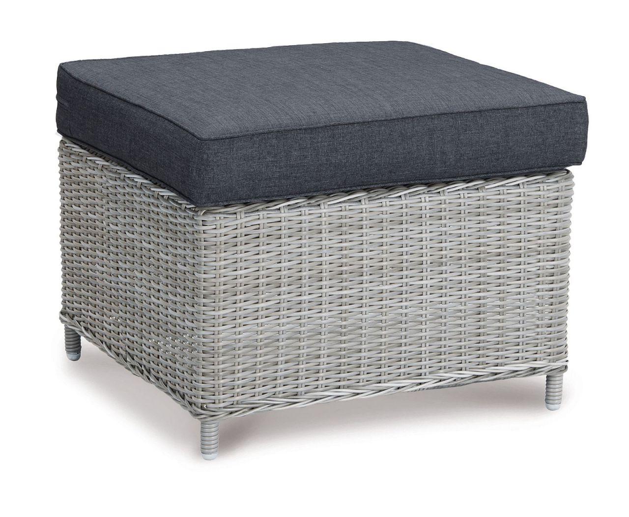 hocker outdoor fu hocker inkl polster rattan grau meliert 65 x 65 cm bf bahamas kaufen bei eh. Black Bedroom Furniture Sets. Home Design Ideas